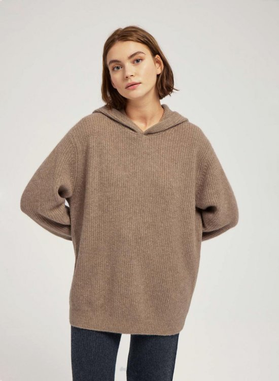 Oversized 100% Cashmere Hoodie