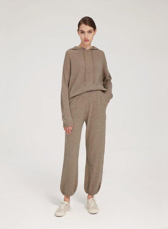Fine-Knit Pure Merino Wool Hoodie Set