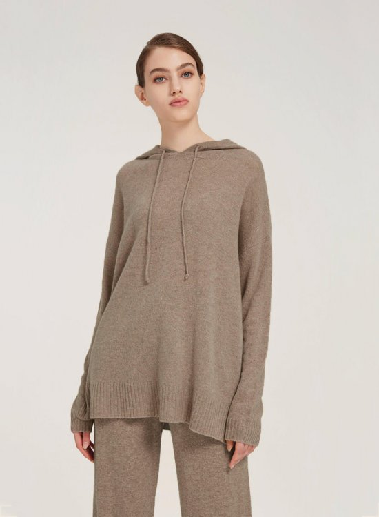 Fine-Knit Pure Merino Wool Hoodie
