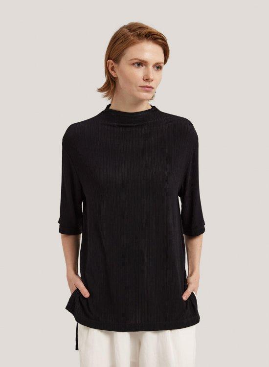 High Neck Mid-Sleeve Blouse