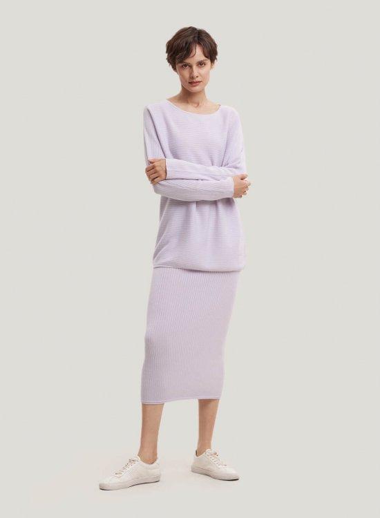 100% Merino Wool Jumper And Midi Skirt Set
