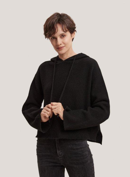 100% Yak Wool Long-Sleeved Hoodie